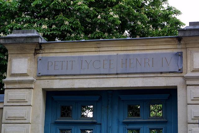 Le lycee Henri 4, coté rue clotilde